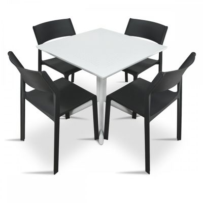 Tufted Chaise Lounge Chair, Nardi Clip Trill Bistro 5 Piece Dining Set Armless Chairs Nardi Online Themarket New Zealand