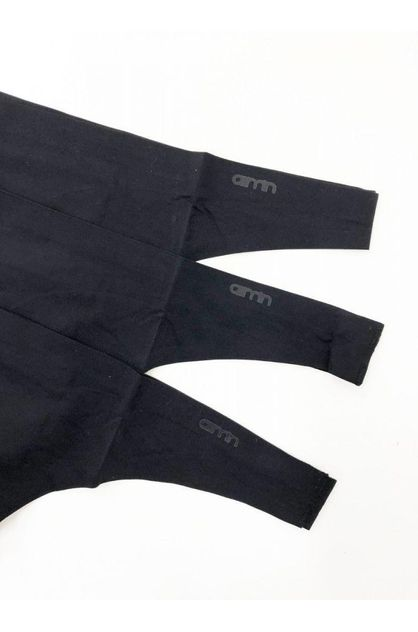 Aimn Black Invisible Thong 3-Pack   aimn Online