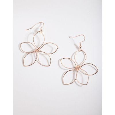 Lovisa Rose Gold Wire Open Flower Drop Earring Lovisa Online Themarket New Zealand