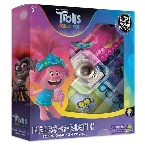 Trolls Press O Matic Kids/Children 3y+ Adult/Family Play Board Game Fun Toys
