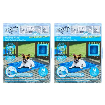 2x All For Paws 50cm Always Cool Dog Mat Non Toxic Cooling