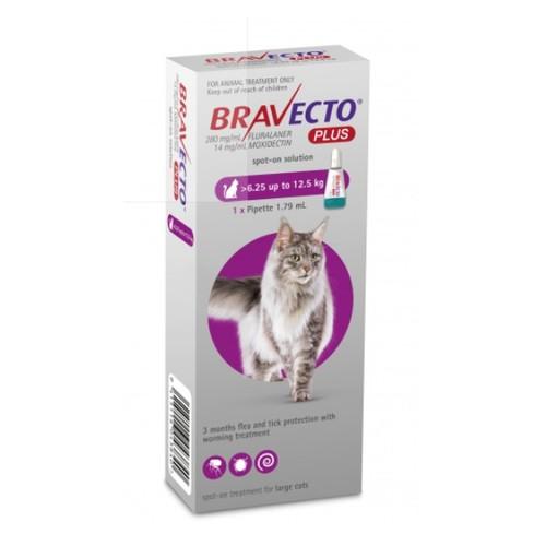 Bravecto Plus Flea, Tick & Worm Spot On Treatment for Cats (6.25kg - 12.5kg)