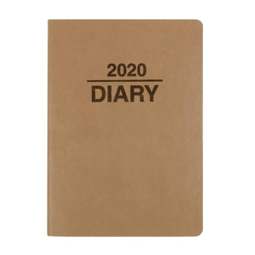 Dats Diary 2020 Week To View Soft PU Cover Assorted A6
