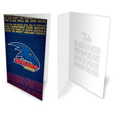 Adelaide Crows Afl Team Song Musical Greeting Card Birthday Gift Australian Football League Online Themarket New Zealand