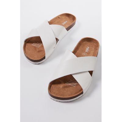 Rubi Shoes Rex X Over Slide White