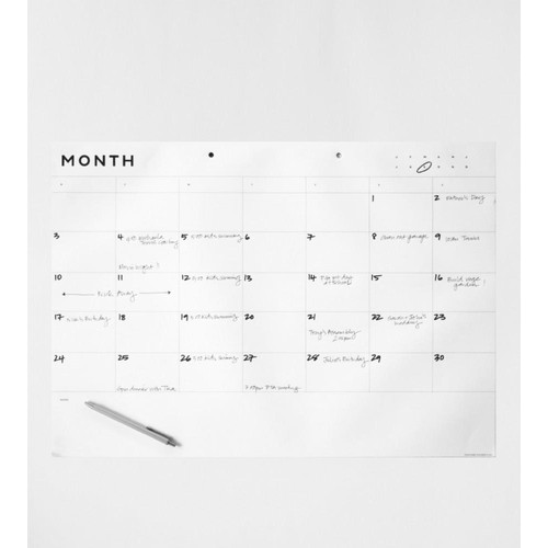 Father Rabbit Stationery  A2 Month Planner