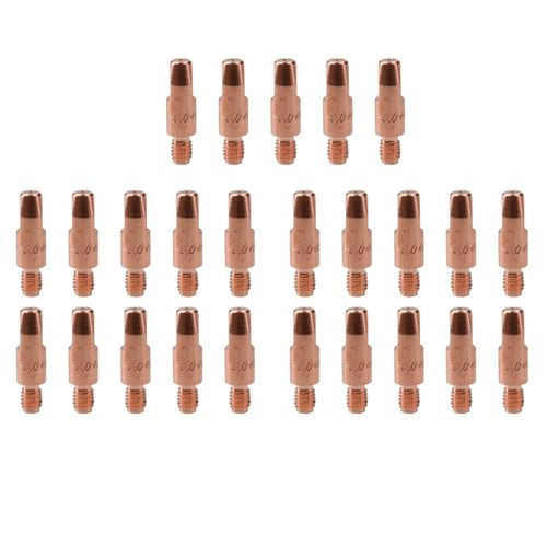 1.0mm Mig Welding Welder Round Contact Tips for MB25 MB36 Euro Torches 25pk