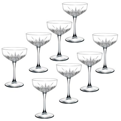 8pc Pasabahce Timeless 255ml Clear Champagne/Cocktail