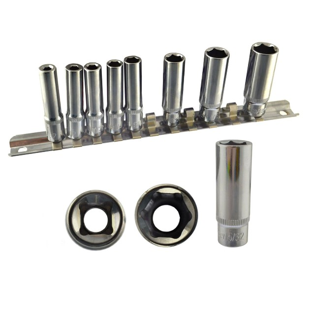 AB Tools-US Pro 1/4 Drive Imperial SAE AF Double Deep ...