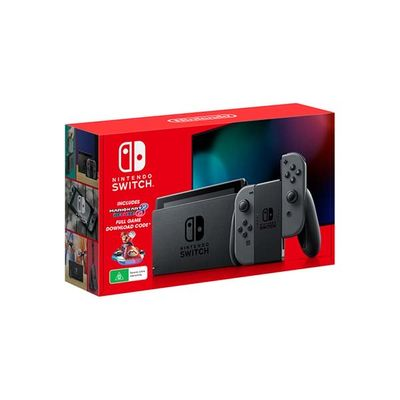 Nintendo Switch Console Grey With Mario Kart 8 Deluxe Game